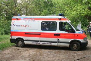Przewóz rannego po wypadku